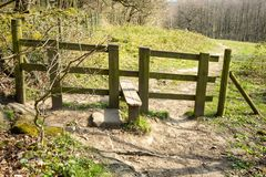 Stile leading to a welcoming path royalty free stock photos