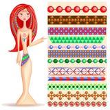 stile etnico di braccialetti colorati Multi Fotografia Stock Libera da Diritti