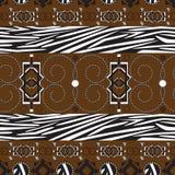 stile för africa bakgrundsprydnad Royaltyfri Foto
