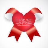 Stile felice del nastro di giorno di biglietti di S. Valentino Fotografia Stock Libera da Diritti
