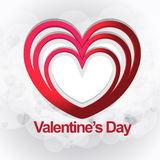 Stile felice di giorno di biglietti di S. Valentino nuovo Fotografie Stock