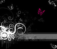 Stile floreale di vettore-emo del blocco per grafici Fotografia Stock Libera da Diritti