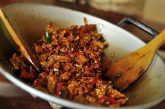 Stile fritto di Bali del tofu Fotografie Stock Libere da Diritti