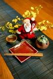 Stile giapponese del Babbo Natale Fotografie Stock Libere da Diritti