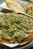 Stile giapponese della pizza fotografia stock libera da diritti
