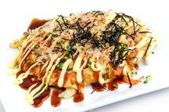 Stile giapponese della pizza, Okonomiyaki Kansai immagini stock