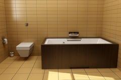 stile giapponese della stanza da bagno Fotografia Stock