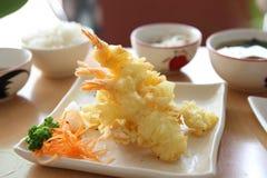 Stile giapponese fritto Tempura del gambero fotografie stock