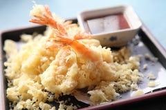 Stile giapponese fritto Tempura del gambero immagini stock