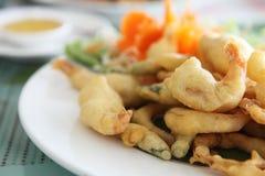 Stile giapponese fritto Tempura del gambero fotografia stock libera da diritti