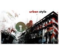 Stile grafico urbano Fotografia Stock Libera da Diritti