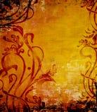 STILE GRUNGE WALLP DI ARTE NOUVEAU Fotografia Stock