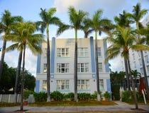 Stile Heathcote di art deco in Miami Beach Fotografia Stock Libera da Diritti