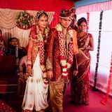Stile indiano di nozze Immagini Stock