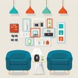 Stile interno del salone Fotografia Stock
