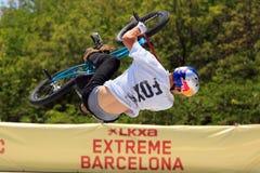 Stile libero Barcellona estrema 2014 di BMX Immagine Stock
