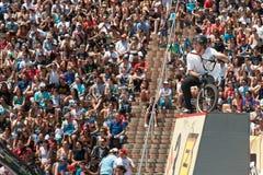 Stile libero Barcellona estrema 2014 di BMX Fotografia Stock Libera da Diritti