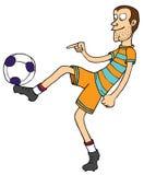 Stile libero di gioco del calcio Fotografia Stock