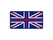 Stile lineare della bandiera del Regno Unito Segno Gran-Bretagna Simbolo nazionale Fotografie Stock Libere da Diritti