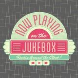 stile Logo Design di jukebox degli anni 50 Immagini Stock