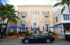 Stile martedì grasso di art deco in Miami Beach Fotografie Stock Libere da Diritti