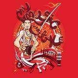 Stile marziale brasiliano di Art Capoeira My Music My Immagine Stock Libera da Diritti