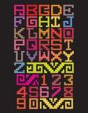 Stile Mayan di alfabeto Immagini Stock