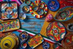 Stile messicano di Talavera delle terraglie del Messico immagine stock libera da diritti