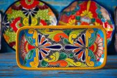 Stile messicano di Talavera delle terraglie del Messico fotografia stock