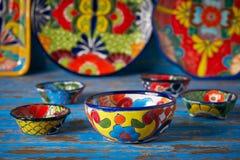 Stile messicano di Talavera delle terraglie del Messico fotografie stock libere da diritti