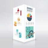 Stile minimo della scatola del modello infographic moderno di progettazione Fotografia Stock Libera da Diritti