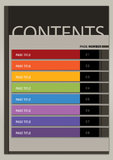 Stile moderno Boxy della disposizione della pagina di contenuto Immagini Stock Libere da Diritti