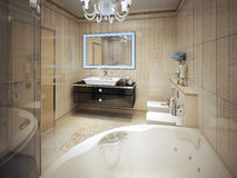 Stile moderno del bagno costoso Fotografie Stock
