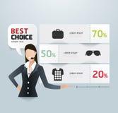 Stile moderno del modello della carta di etichetta di promozione di vendita illustrazione vettoriale