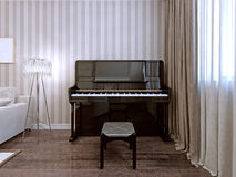 Stile moderno del piano Fotografia Stock