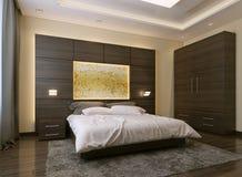 Stile moderno della camera da letto Illustrazione Vettoriale