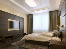 Stile moderno della camera da letto Royalty Illustrazione gratis