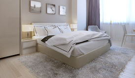 Stile moderno della camera da letto Immagini Stock Libere da Diritti