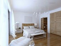 Stile moderno della camera da letto Fotografia Stock