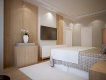 Stile moderno della camera da letto della gioventù Fotografie Stock Libere da Diritti