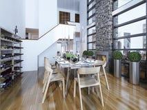 Stile moderno della sala da pranzo Fotografie Stock