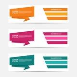 Stile moderno di affari dell'insegna piana di progettazione Immagini Stock