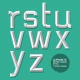Stile moderno di alfabeto. Fotografia Stock Libera da Diritti