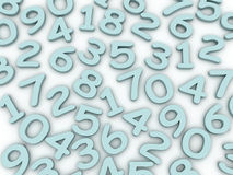 stile moderno di colore di numero di alfabeto 3d Fotografia Stock Libera da Diritti