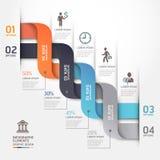 Stile moderno di origami del diagramma di affari. Fotografie Stock Libere da Diritti