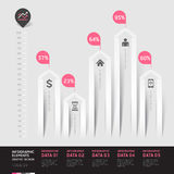 Stile moderno di origami di infographics della freccia. Fotografia Stock Libera da Diritti