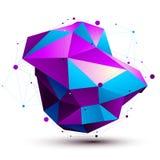Stile moderno di tecnologia digitale Figura astratta Fotografie Stock