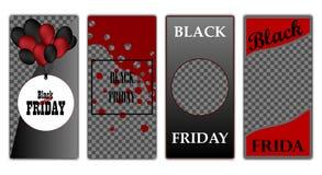 Stile moderno nero di venerdì di progettazione del modello di copertura su fondo per la decorazione della presentazione, opuscolo illustrazione di stock