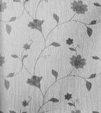 Stile monotono dell'annata del fondo del tessuto del retro modello senza cuciture floreale del pizzo Immagini Stock Libere da Diritti
