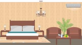 Stile orientale interno della stanza di albergo di lusso con mobilia Fotografia Stock